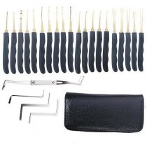 Grimaldelli 24pcs Single Hook Lock Pick Set Locksmith Tools Lock Kit Grimaldello